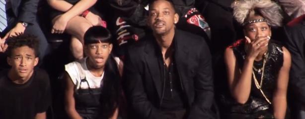 Will Smith e famiglia ai Video Music Award 2013