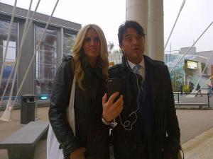 Giulio Base su Periscope con la moglie Tiziana Rocca